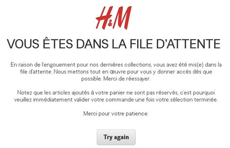 file d'attente H&M
